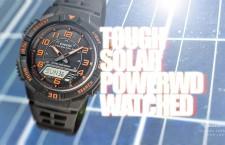 นาฬิกาข้อมือระบบชาร์จด้วยพลังงานแสงอาทิตย์