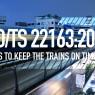 รถไฟทุกขบวนตรงเวลาด้วย ISO/TS 22163: 2017